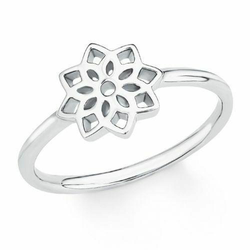 s.Oliver Damen Ring 2017222 Blume Silber