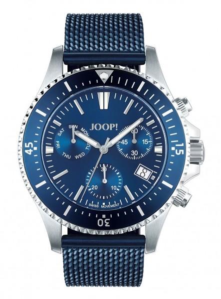 JOOP! Herren Armbanduhr 2027581 Chronograph Metallband blau