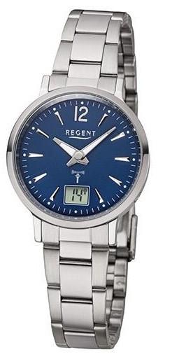 Regent Damen Armbanduhr 3121.44.94 FR-259 Funk Edelstahl