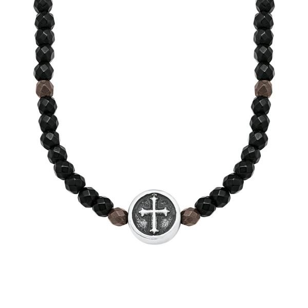 s.Oliver 2018707 Halskette Kreuz Hämatit
