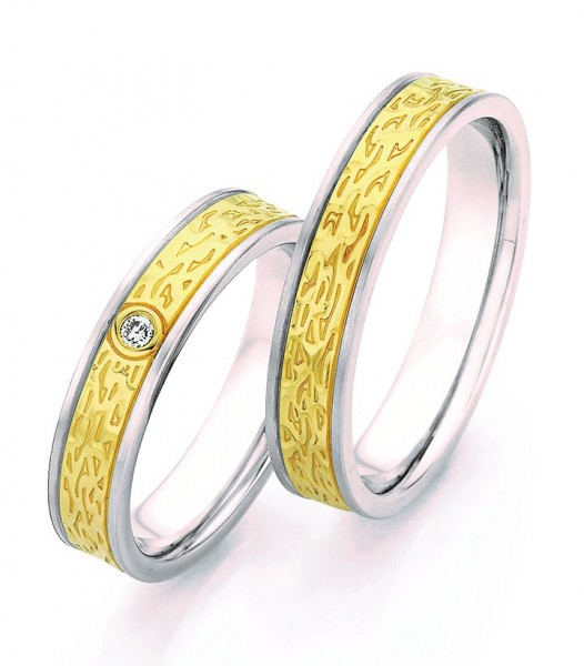 Eheringe Trauringe Ruesch Steel & Gold Forever 88/24170 - 88/24180 Edelstahl Gelbgold