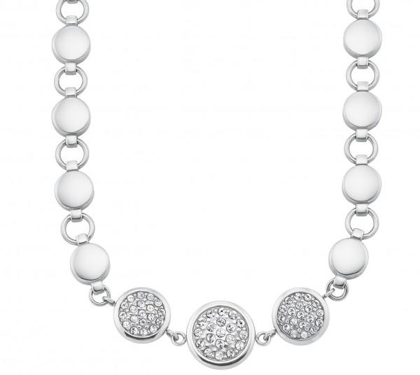 s.Oliver Damen Halskette 2026173 Edelstahl mit Swarovski® Kristallen