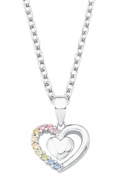Lillifee Mädchen Halskette 2024377 Herz bunt Silber 925