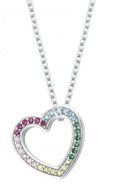 Lillifee Mädchen Halskette 2027903 Herzanhänger Silber Zirkonia