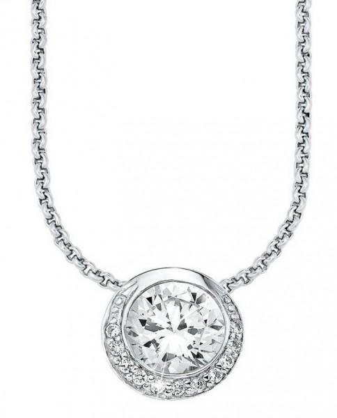 s.Oliver Damen Halskette SO963/01 Silber Zirkonia
