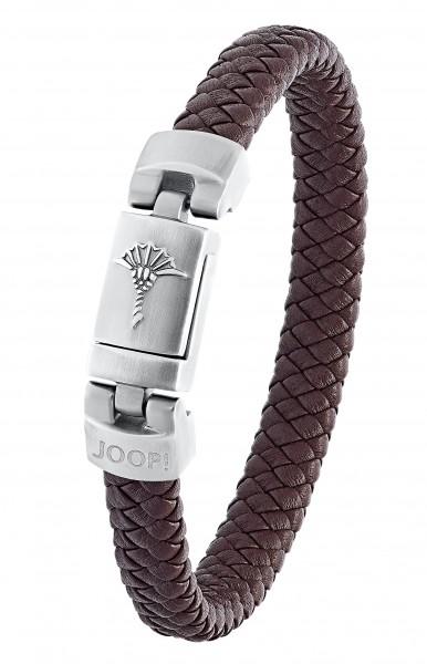 Joop! Herren Armband 2031028 Leder braun Edelstahl IP Gun