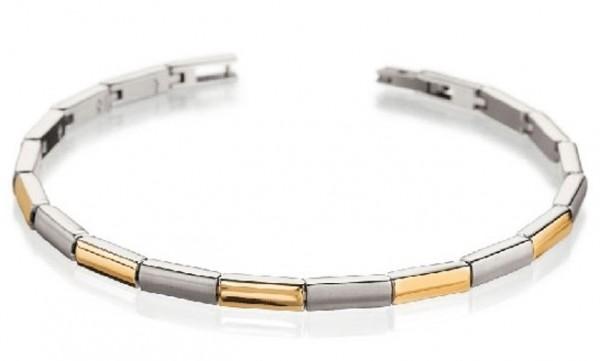 Boccia Damen Armband 0387-02 Titan teil-gelbgoldplattiert