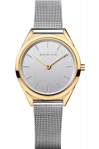 Bering Damen Armbanduhr 17031-010 Ultra Slim Bicolor