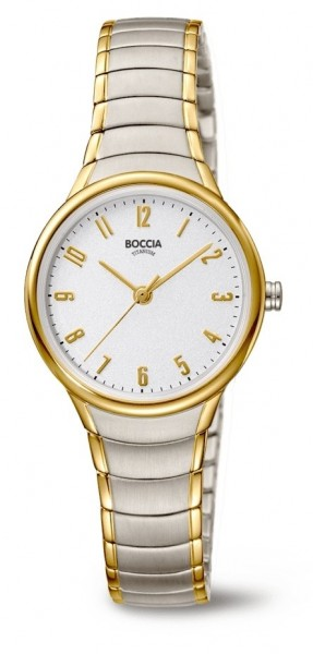 Boccia Damen Armbanduhr 3319-02 Trend bicolor