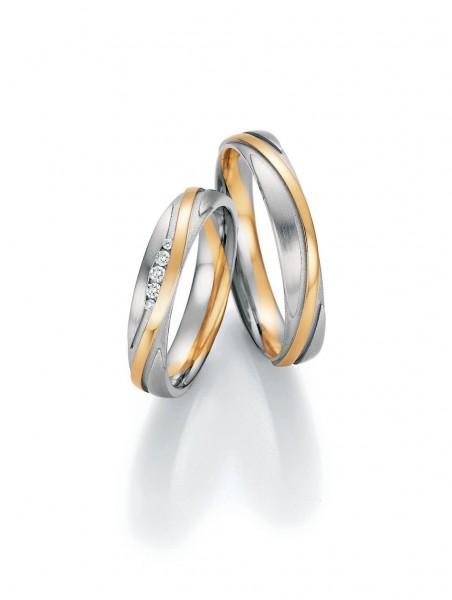 Trauringe Honeymoon Symphony 66/36170 66/36180 Weißgold/Gelbgold