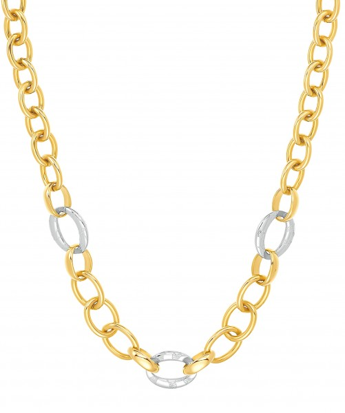 JOOP! Damen Halskette 2032467 Edelstahl IP gold