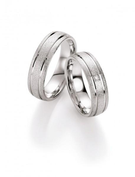 Eheringe Trauringe Silber 55/10090-10100 White Style Silver