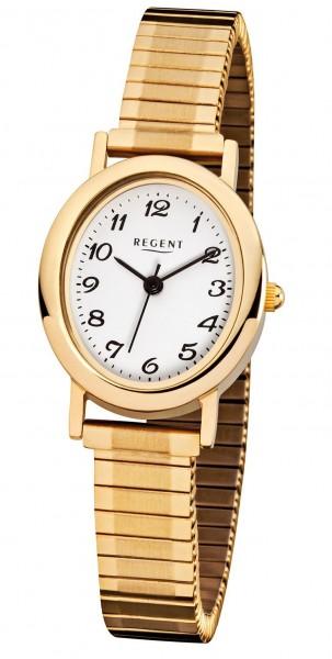 Regent Damen Armbanduhr 6822.45.99 F-267 Edelstahl Zugband gold IP