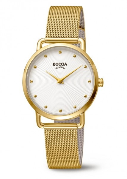 Boccia Damen Armbanduhr 3314-06 Style goldfarbig