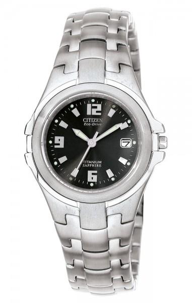 Citizen Damen Armbanduhr EW0650-51F Eco Drive Super Titanium
