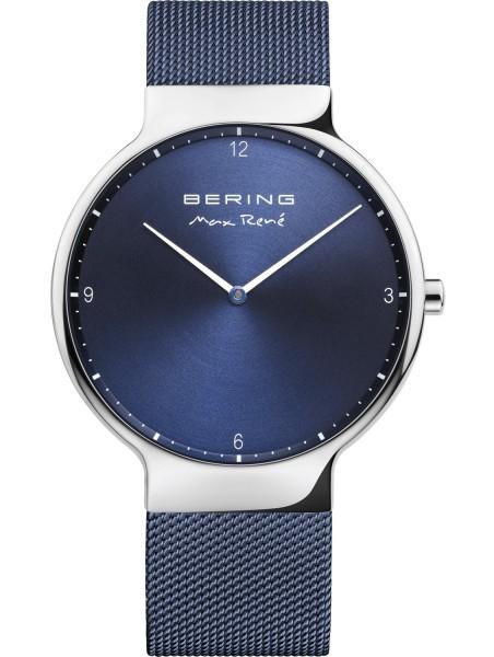 Bering Herren Armbanduhr Max René 15540-307 silber-blau