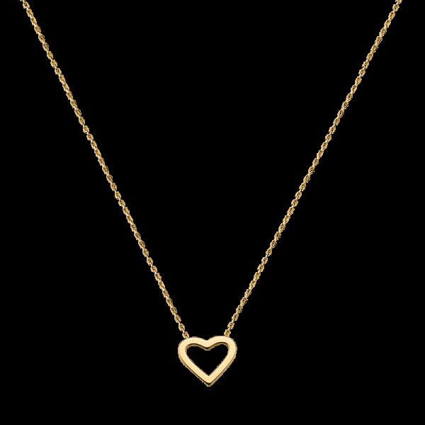 Trends Damen Halskette G3-00201C Herz Gold