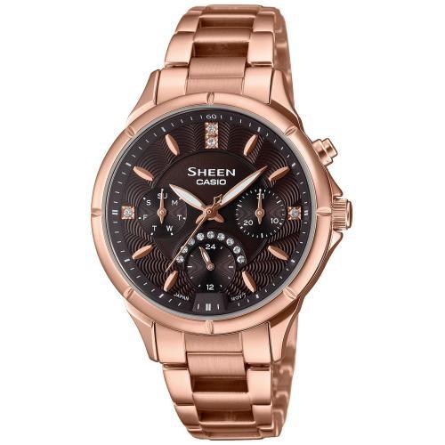 Casio Damen Armbanduhr SHEEN SHE-3047PG-5AUER SWAROVSKI® CRYSTALS