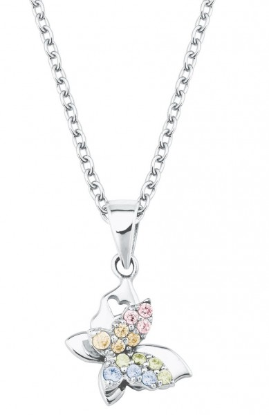 Lillifee Mädchen Halskette 2027900 Schmetterling Silber Zirkonia