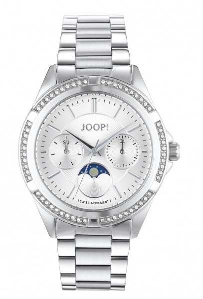 JOOP! Damen Armbanduhr 2027343 Edelstahl Zirkonia