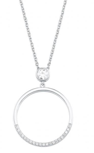 s.Oliver Damen Halskette 2027567 Kreis Silber Zirkonia