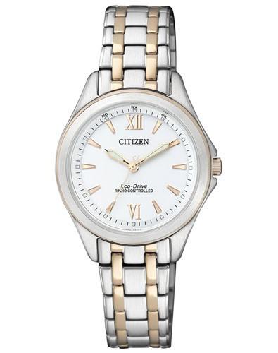 Citizen Damen Armbanduhr Funk Eco Drive ES4024-52A Elegant