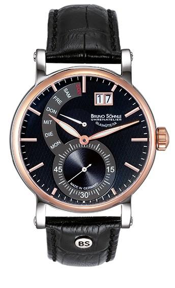 Bruno Söhnle Herren Armbanduhr 17-63073-747 PESARO II Lederband schwarz