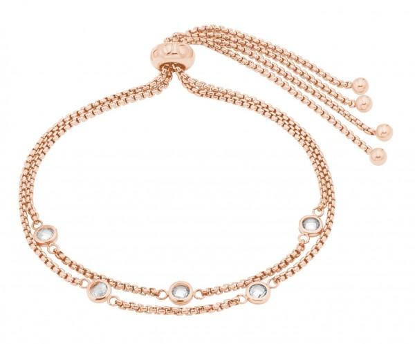 JOOP! Damen Armband 2028367 Edelstahl rosegold IP