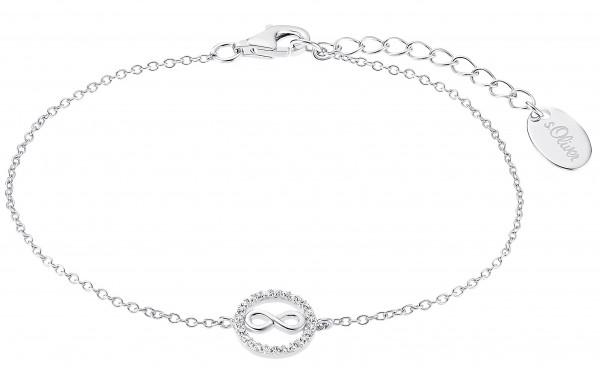 s.Oliver Damen Armband 2032571 Kreis Infinity Zirkonia Silber