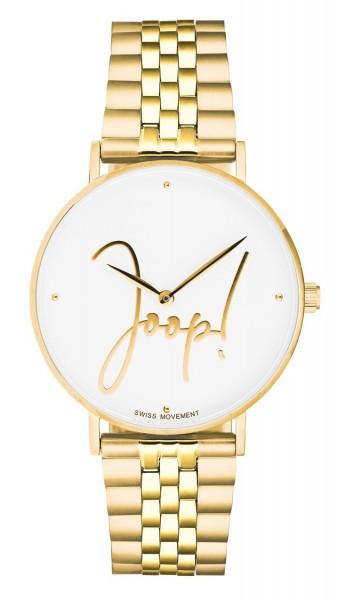 JOOP! Damen Armbanduhr 2028335 Metallband gelbgold IP