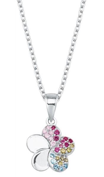 Lillifee Mädchen Halskette 2027896 Blumenanhänger Silber Zirkonia