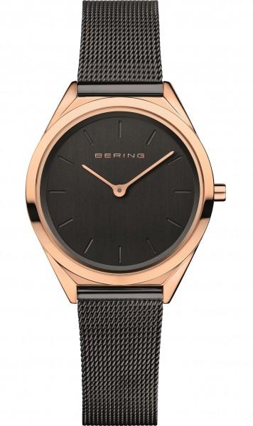 Bering Damen Armbanduhr 17031-166 Ultra Slim roségold-schwarz