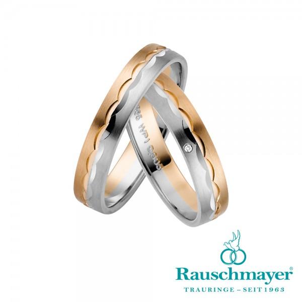 Trauringe 10-11-50838 Weißgold/Rotgold