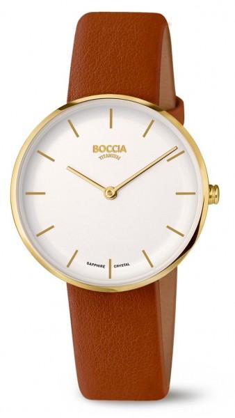 Boccia Damen Armbanduhr 3327-03 Trend Lederband APPLE SKIN vegan