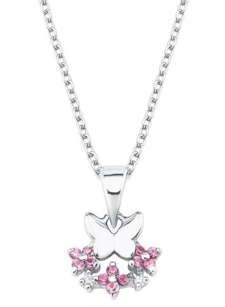 Lillifee Mädchen Halskette 2027888 Schmetterling Silber Zirkonia
