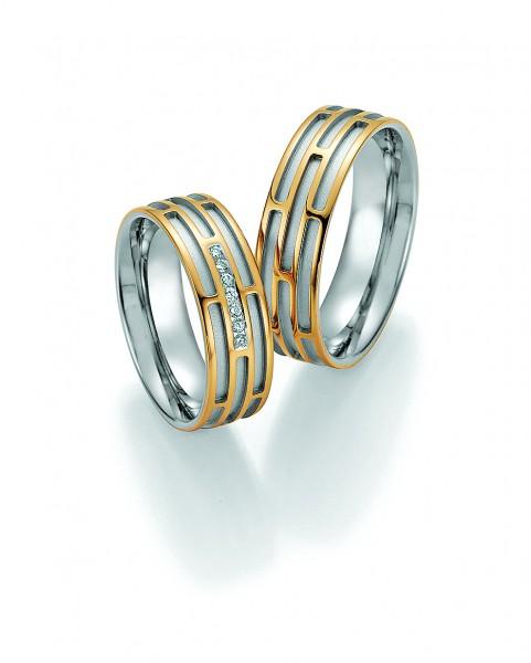 Eheringe Trauringe Solid II 66/34130 66/34140 Gelbgold Weißgold