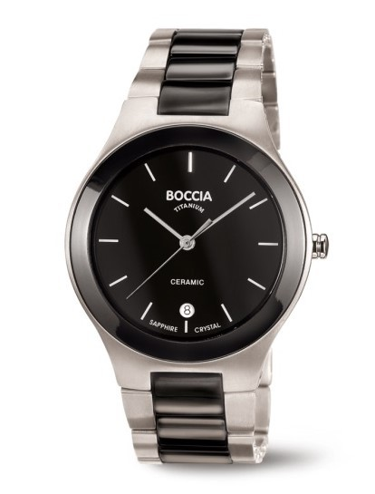 Boccia Herren Armbanduhr 3628-01 Titan Ceramic