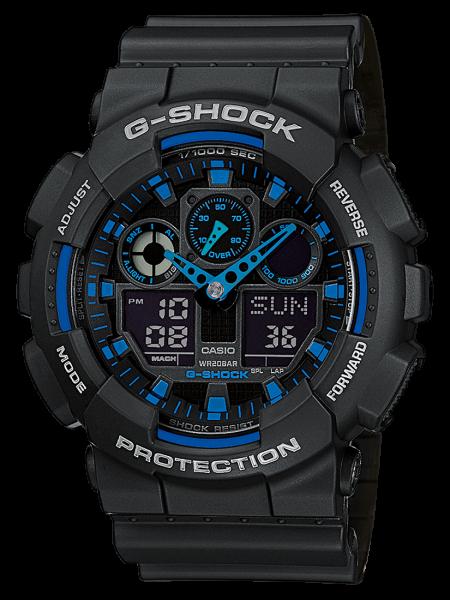 Casio Herren Armbanduhr G-Shock GA-100-1A2ER
