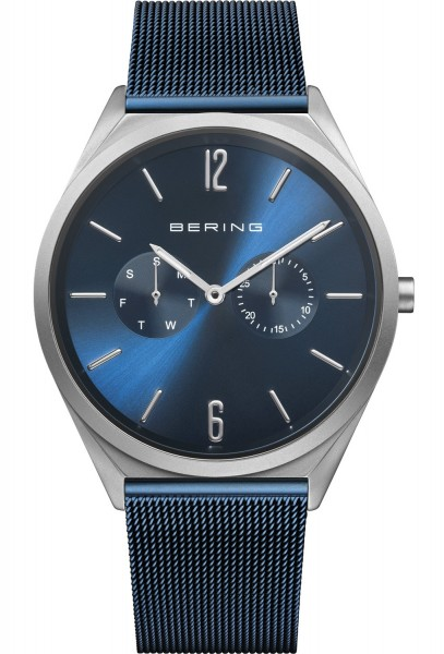 Bering Herren Armbanduhr 17140-307 Ultra Slim blau IP