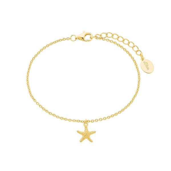 s.Oliver Damen Armband SO PURE 2026126 Seestern Silber vergoldet