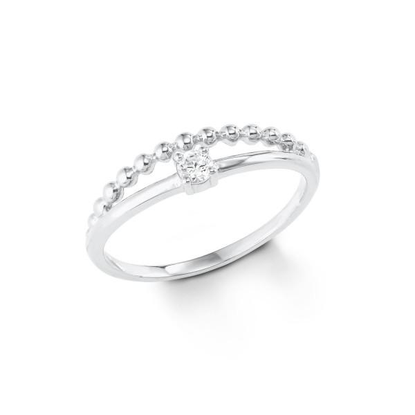 s.Oliver Damen Ring 2022708 Zirkonia Silber