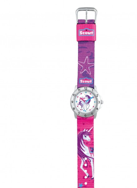 Scout Mädchen-Armbanduhr Einhorn pink 280378008 Action Girl