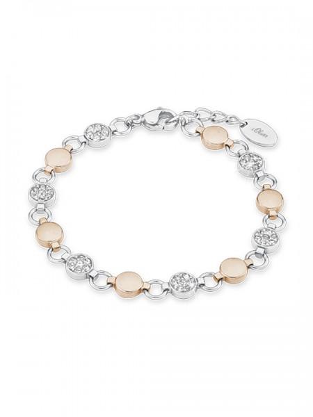 s.Oliver Damen Armband 9239443 Swarovski Edelstahl bicolor