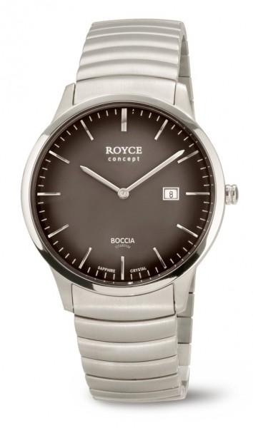 Boccia Herren Armbanduhr 3645-04 Royce