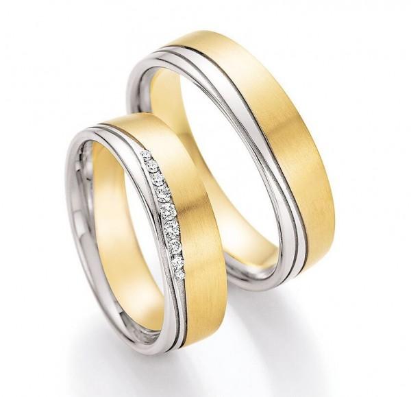 Eheringe Trauringe Solid V 66/45090 66/45100 Weißgold Gelbgold