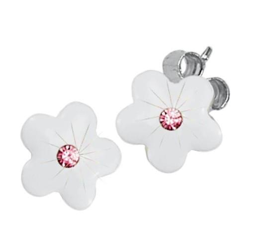 Scout Ohrstecker 262160100 Blume weiß Silber 925