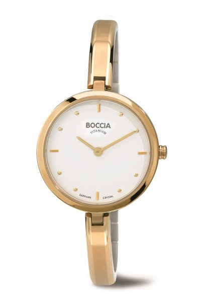 Boccia Damen Armbanduhr 3248-02 Dress goldfarbig
