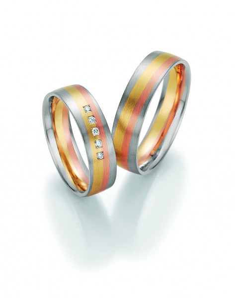Eheringe Trauringe Sunrise 66/44150 66/44160 tricolor
