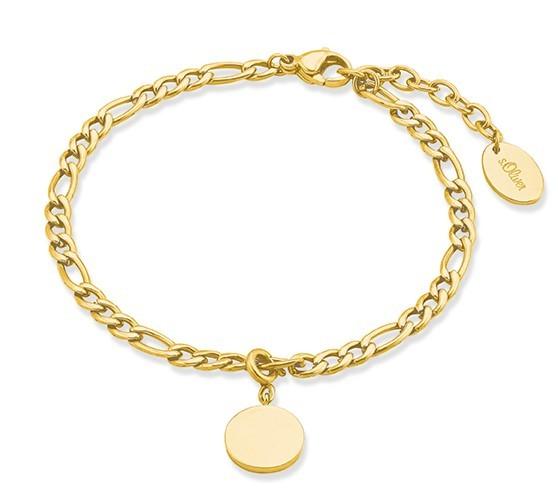 s.Oliver Damen Armband 2028469 Edelstahl Gelbgold IP