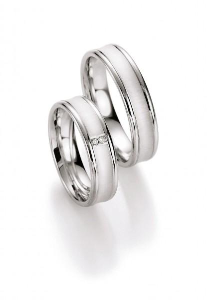 Eheringe Trauringe Silber 55/10170-10180 White Style Silver
